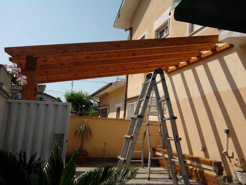 Tettoie in legno lamellare lavori eseguiti arredamento per il
