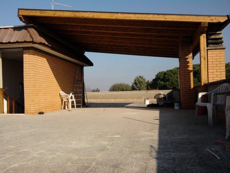 tettoie in legno lamellare lavori eseguiti arredamento